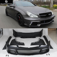 W219 CLS500 FRP front bumper rear bumper side skirts fenders exhaust pipes For Mercedes Benz W219 WALD style 04 11