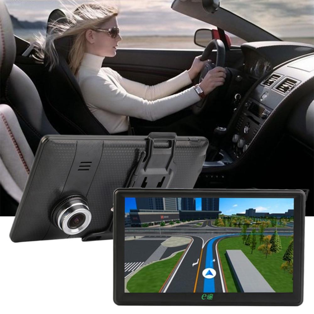 New 7 Inch Car GPS SAT NAV Navigation Car DVR FM MP4 Video Audio Player HD Screen+ Free Map free shipping new black 4 3 inch hd touch screen rearview mirror abs car gps navigation navigator bluetooth 2 0 8gb au map tk102