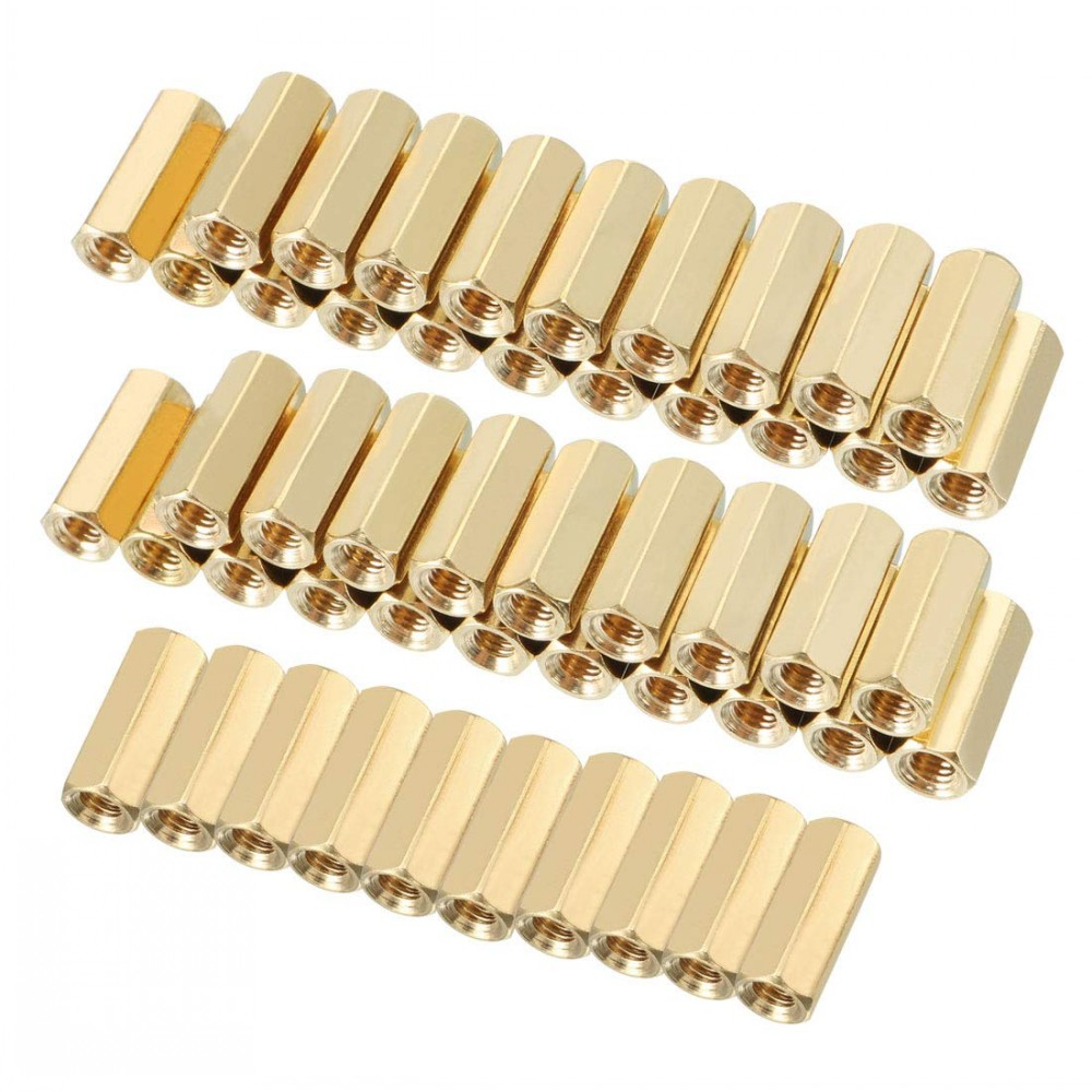 100Pcs/lot M2/M2.5/M3*L Female Hex head <font><b>Brass</b></font> Spacing Screws Threaded Pillar PCB Computer PC Motherboard <font><b>StandOff</b></font> Spacer image