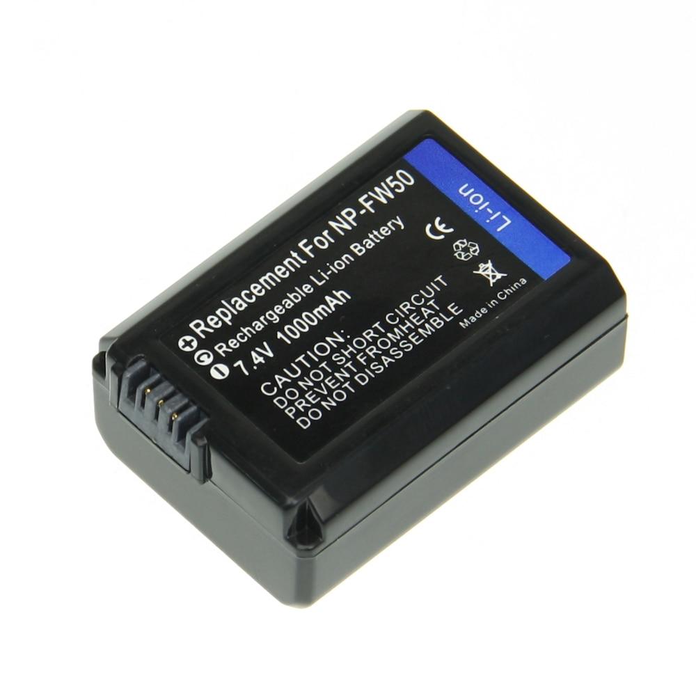 1 unids NP-FW50 NP FW50 NPFW50 Cámara videocámara batería recargable li-ion para Sony NEX-3 NEX-5C Alpha A55 NEX-7 NEX-C3