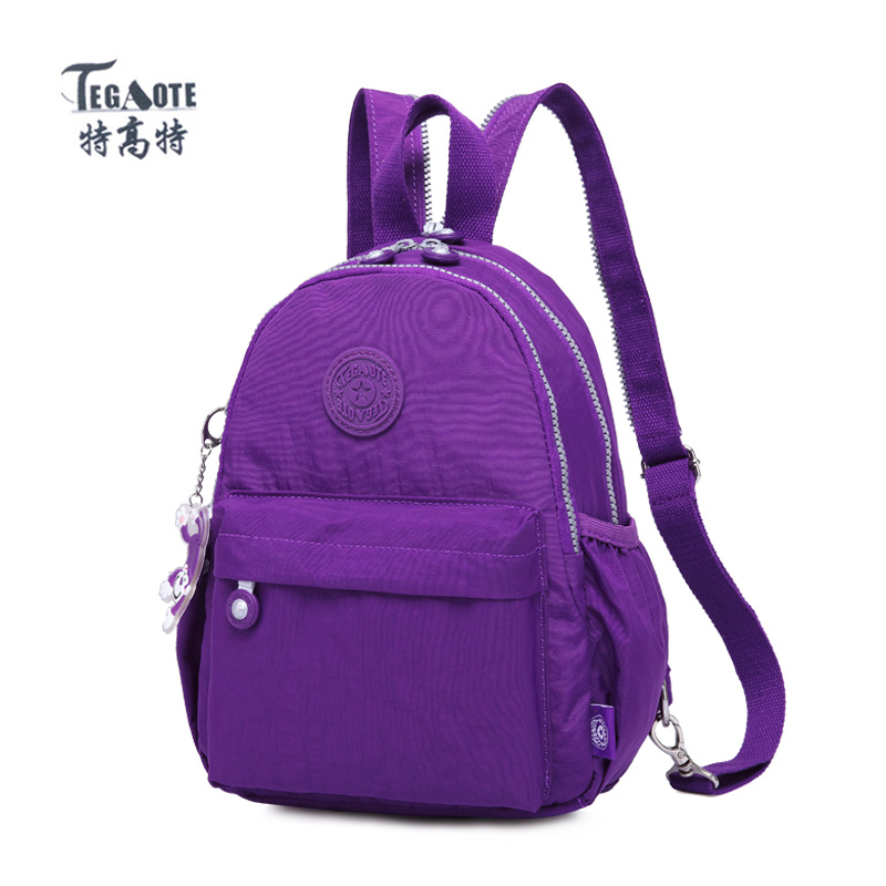 TEGAOTE Small Backpack for Teenage Girls Mochila Feminina Solid Backpacks Women Travel Rucksack Sac A Dos Female Back Pack 2018