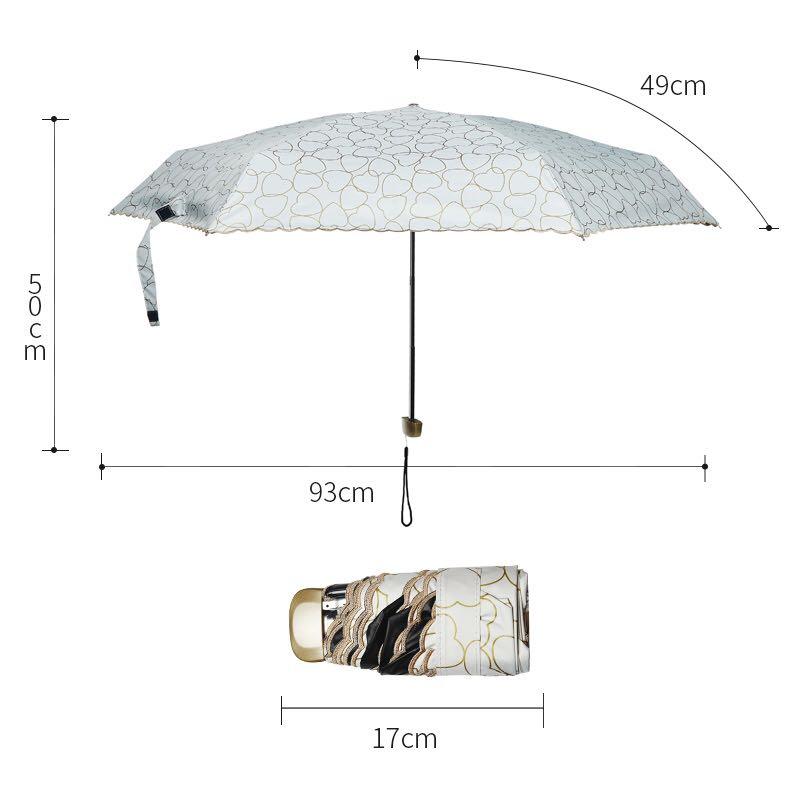 schnüren Sie sich Regenschirmfrau 5 falten Regenschirme super mini - Haushaltswaren - Foto 6