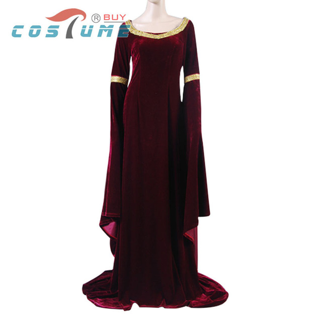 The Lord of the Rings Arwen's Cranberry Gown Dress Uniform Party Halloween Cosplay Costumes For Women Custom Made