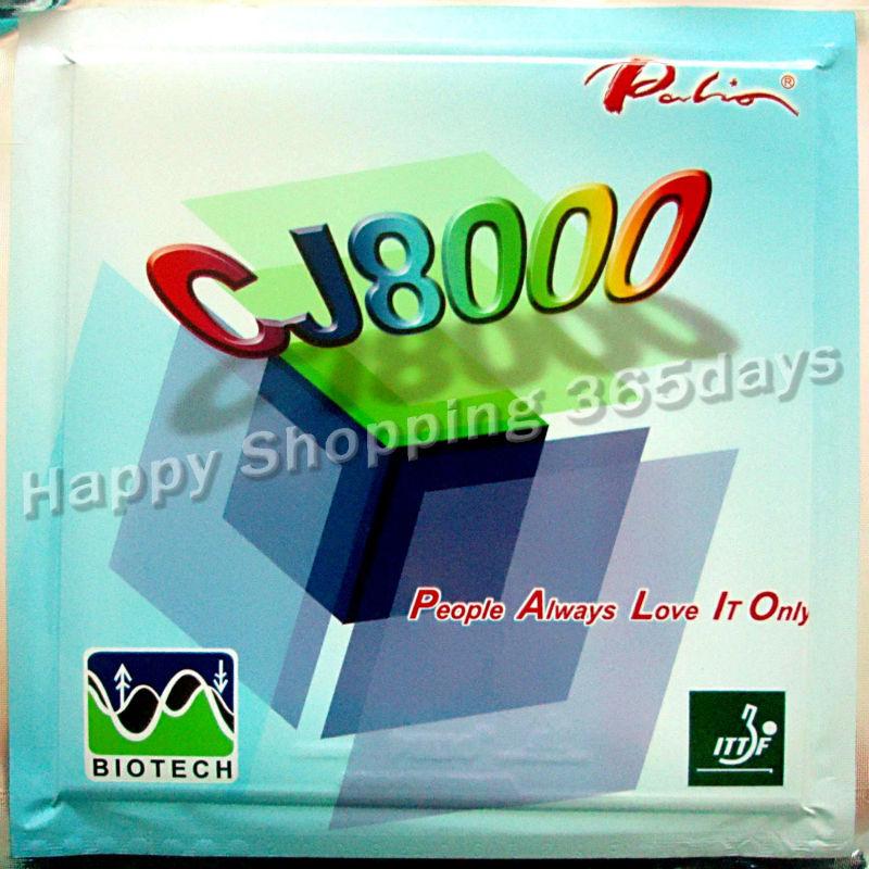 Original Palio CJ8000 (CJ 8000, CJ-8000) 42-44 (BIOTECH)  Pips-in Table Tennis / Pingpong Rubber With Sponge
