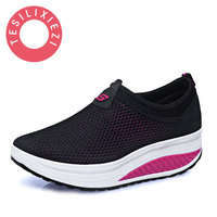 2017 New Fashion Women S Casual Shoes Net Swing Shoes Ladies Shopping Shoes Slimming Driving Pregnant