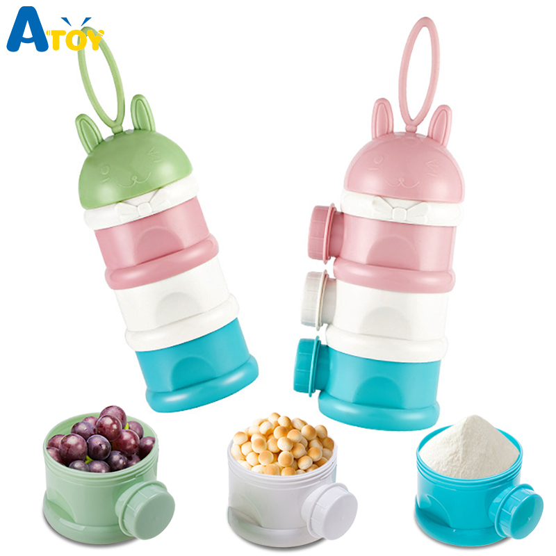Portable 3 Layers Formula Milk Powder Storage Box Toddle Kids Baby Foods Container Powder Dispenser Baby Care Travel Bottles
