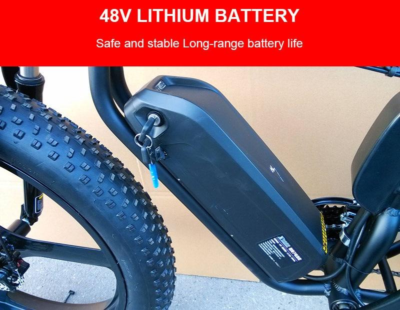 Batterie au Lithium 48 V batterie de vélo de montagne électrique bms 18560 cellules et moteur 1000 w avec l'utilisation du lecteur