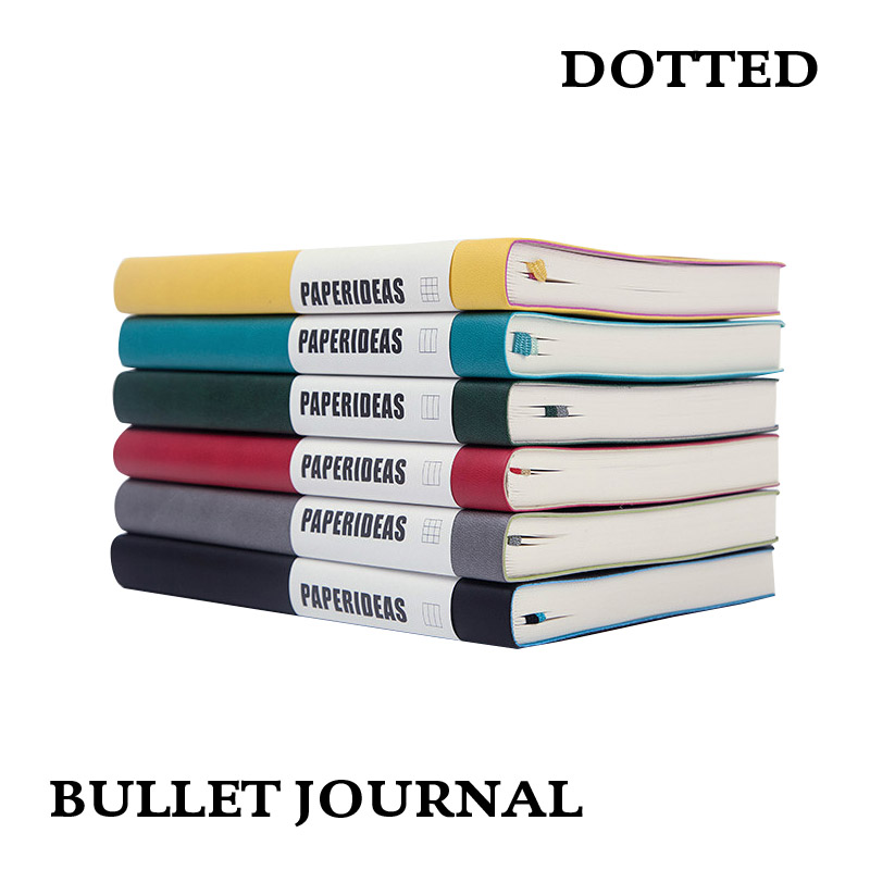 Dot Grid A5 Soft Cover Diary Notebook Dotted Bullet Journal Bujo