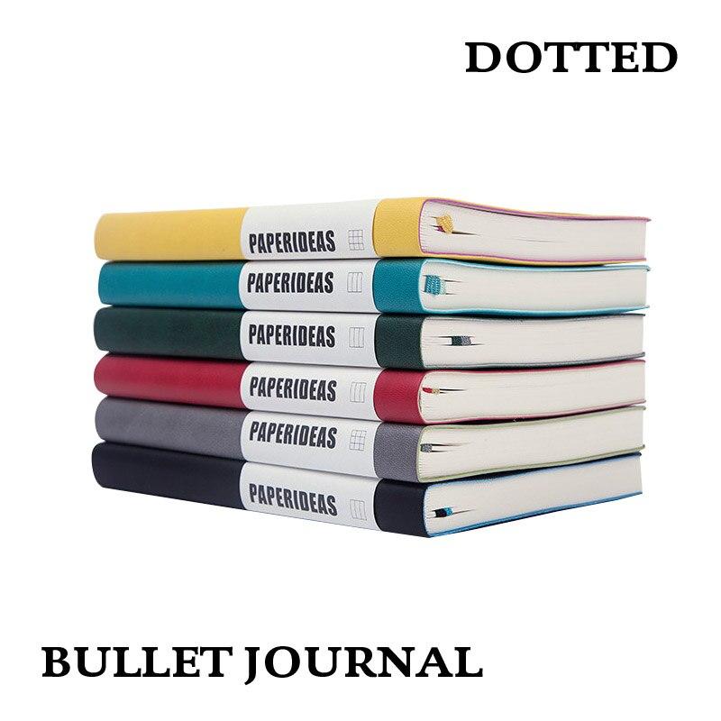 Dot red A5 cubierta suave cuaderno diario de puntos de bala diario Bujo