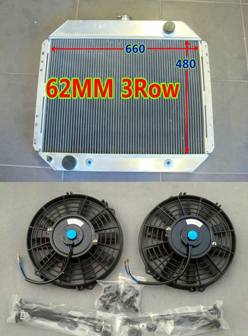 3ROW Aluminum Radiator for FORD F100 F150 F250 F350 V8 67-81 Bronco F-250 FANS