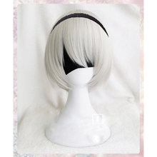Alta qualidade yorha no.2 tipo b 2byorh 2a 9s 2b peruca cosplay nier: automata traje jogar perucas trajes cabelo + peruca boné