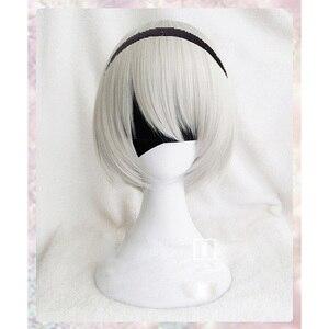 Image 1 - גבוהה באיכות YoRHa מס 2 סוג B 2BYoRH 2A 9S 2B פאת פאת קוספליי NieR: האוטומטים תלבושות לשחק פאות תלבושות שיער + כובע פאה