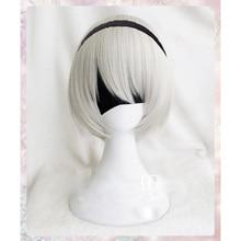 Высококачественный парик YoRHa No.2 типа B 2BYoRH 2A 9S 2B, парик для косплея, NieR:Automata Costume Play, парики, волосы + парик