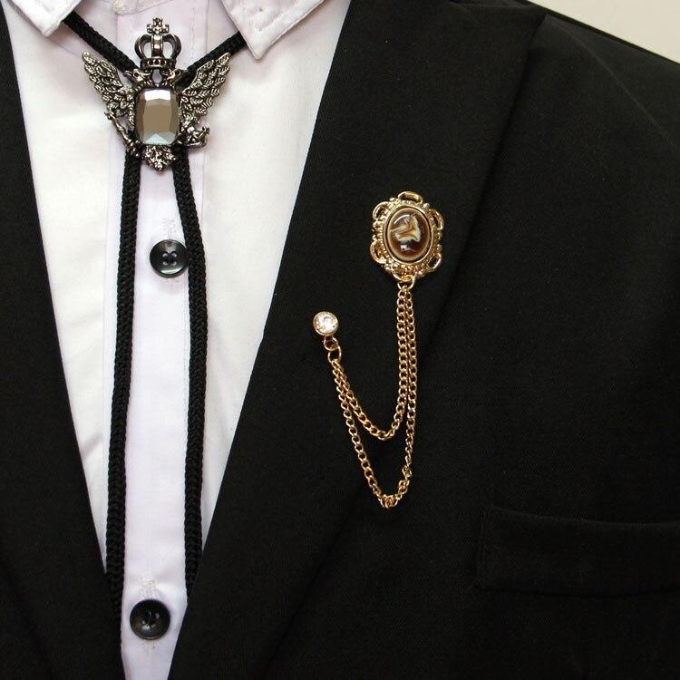 Freies verschiffen Neue mode lässig männer männlich Europa und den Vereinigten Staaten high-end crown fringe corsage weibliche engelsflügel brosche