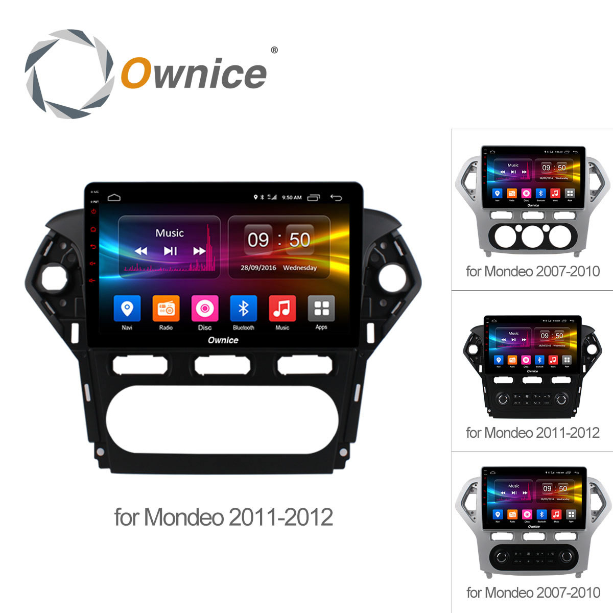Ownice 10.1 Android 6.0 Octa Core 2.5D IPS voiture radio pour Ford Mondeo 2007-2012 GPS Audio dvd player Support 32G ROM 4G LTE DVR