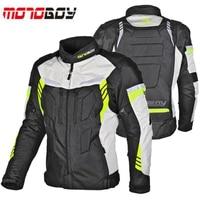 MOTOBOY Motorcycle Riding Jacket Men/women Waterproof and Warm Liner Racing suit 600D Moto racing jacket with CE Portectors
