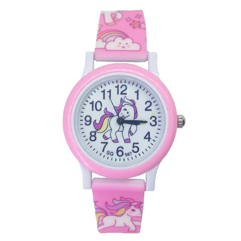New Pony Watch Children Fashion Cute Unicorn Cartoon Girls Boys Child Quartz Clock Student Sports Kids Watches Baby Watch Gifts