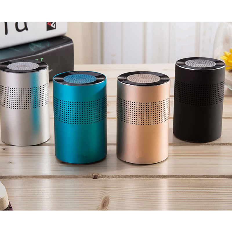 SAMTRONIC Mini Aluminium Alloy Portable Bluetooth Speaker ,Built in Microphone Stereo HD Sound Wireless Bluetooth Party Speaker