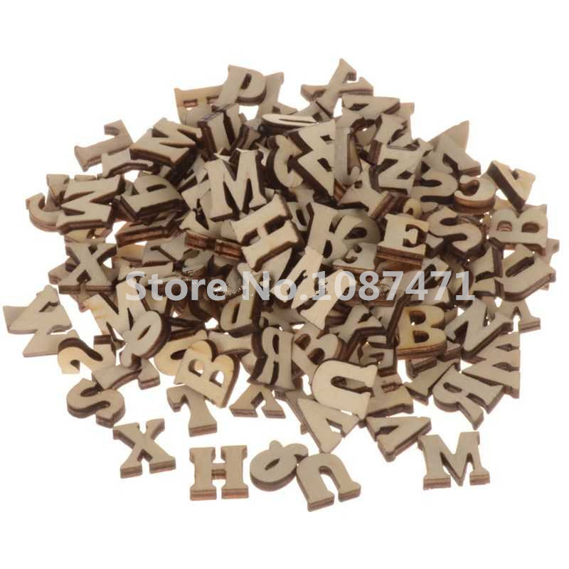 Buy 200pcs mixed a z letter alphabet for Wooden letters for crafts