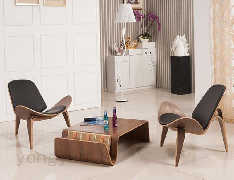 Aliexpress.com : Buy Living Room Furniture Lounge Chair Living Room Shell  Chair Modern Design Leisure Wooden Pad Natural Walnut Wooden Chair From  Reliable ... Part 78