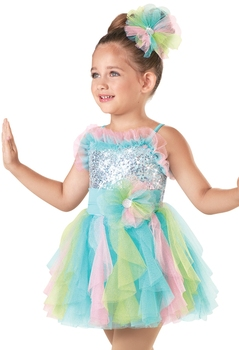 Children's Princess Skirt Ballet Costumes Costumes Color Veil Show Clothing Sequin Stage Costume