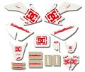 NEW STYLE TEAM  GRAPHICS&BACKGROUNDS DECAL STICKERS Kits For Honda CRF50 CRF50F 2004-2012(White/Red)