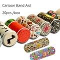 20 Pçs/caixa Coreano Bonito Dos Desenhos Animados Estanho Pasta Respirável À Prova D' Água Band-aid Ataduras Hemostasia Kit de Primeiros Socorros Para Crianças dos miúdos