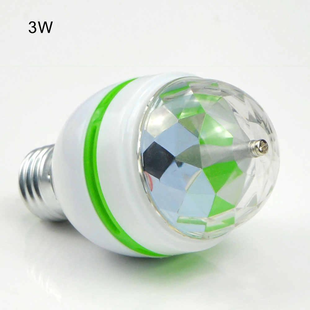 6 Вт 3 Вт E27 светодио дный бар огни вращающийся шар света стадии RGB магический эффект вечерние Disco хоровод развлечений лампы ЕС Plug патрон DIY
