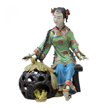 Female Dolls Laddy Sculptures Antique Ceramic Statues Chineses Style Glazed Porcelain Christmas Art Collectibles Hot Sale collectibles glazed ceramic dolls laddy sculptures chinese female statues figurine christmas gifts chinese traditional art