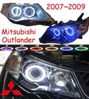 Mitsubish outlander фар, 2007 ~ 2009 (подходит для lhd & rhd), Бесплатная доставка! Outlander фар, 2 шт./SE + 2 шт. aozoom балласт, Outlander EX