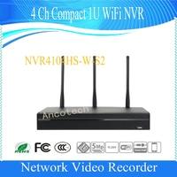 Freies Verschiffen DAHUA WIFI NVR 4 4-kanal Kompakt 1U WiFi Netzwerk Video Recorder H.264 +/H.264 5Mp ohne Logo NVR4104HS-W-S2