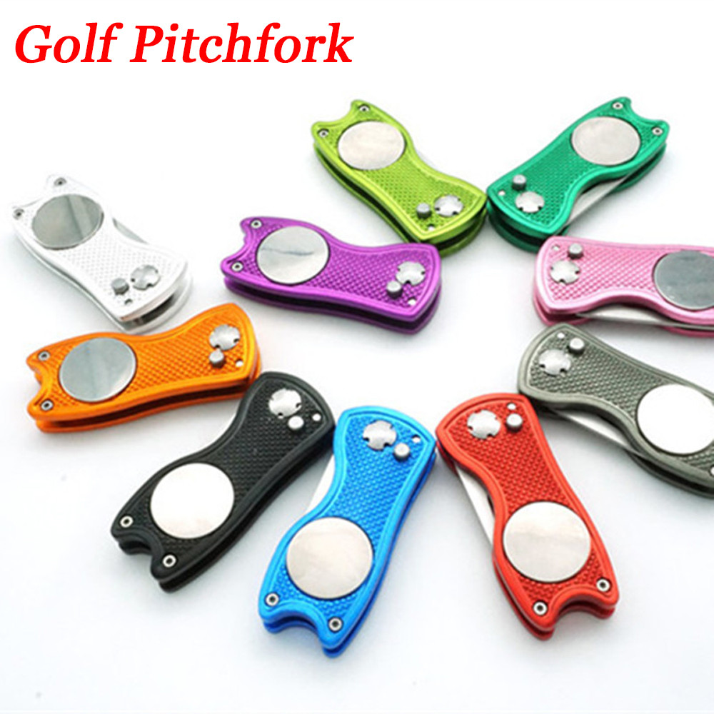 1Pcs Stainless Steel Pitchfork Putting Green Fork Golf Training Divot Repair