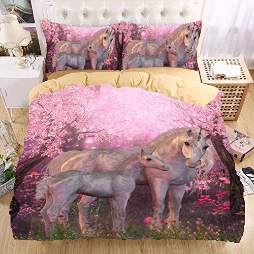 WARM TOUR 3d bedding set Unicorn bedding print twin queen