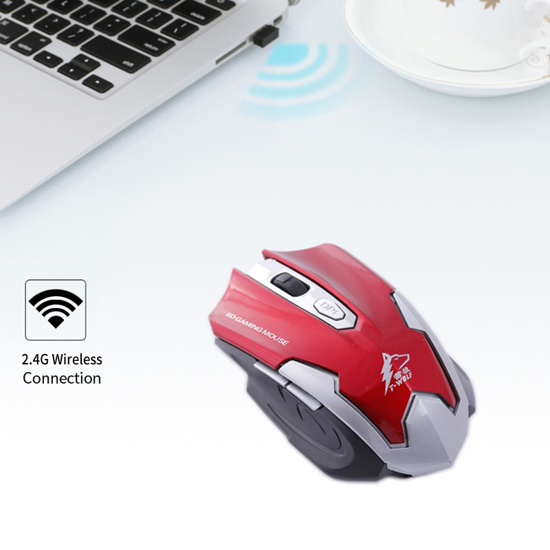 2.4GHz Wireless Silent Vertical 2400DPI Game Mouse Ergonomic USB Gaming Mice