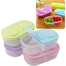 Fresh Fruit Snacks Storage Plastic Kitchen Container Sauce Food Box Crisper H06
