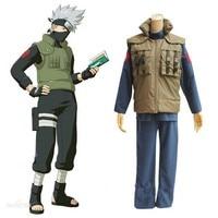 Christmas costume Naruto Hatake Kakashi cosplay costume full set include wig shoes headband gloves mask