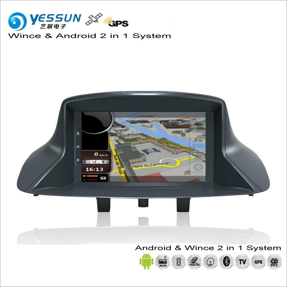 YESSUN для Renault Megane III/Scenic III 2010 ~ 2013 автомобильный радиоприемник для Android CD DVD плеер с gps навигатором Карта Навигация Аудио Видео Стерео