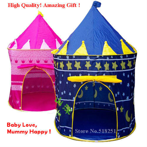 Ultralarge Children Beach Tent, <font><b>Baby</b></font> Toy Play Game House, Kids Princess Prince Castle Indoor Outdoor Toys Tents Christmas Gifts