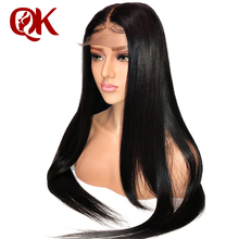 QueenKing Hair Lace Front Human Hair Wigs For Black Woman 130% Density Lace Frontal Wigs Brazilian Straight Remy Hair PrePlucked