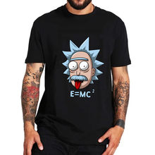 RICK n morty E MC2 T-shirts mannen zomer Albert Einstein geek tshirt anime t-shirts kleur tops tees Rick en morty Natuurkunde Science(China)