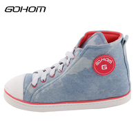 GOHOM Best Popular Canvas Shoes Style Home Women Slippers Denim Cool Slippers Winter Warm Soft Flats