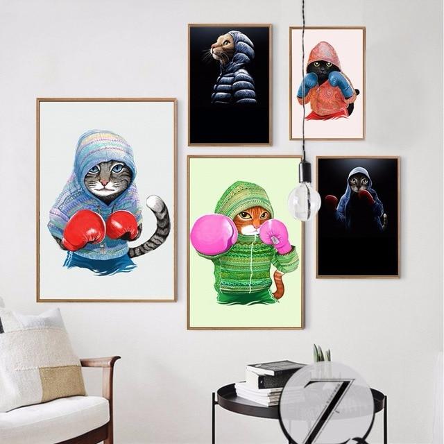 A Nordic Anak Dekorasi Tinju Cat Dinding Seni Gambar Untuk Ruang Tamu