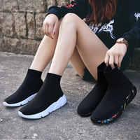 MWY chaussures de loisir à la mode Femme confortable respirant maille semelle souple femme plate-forme baskets femmes Chaussure Femme basket femme