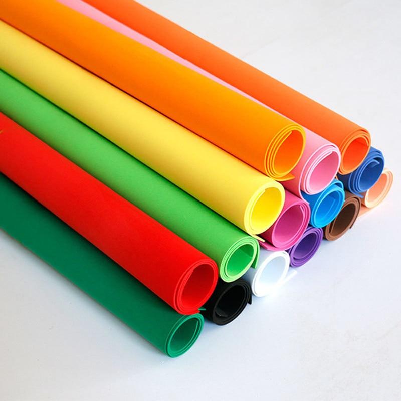 6 unids / lote 49 * 47 cm 1 mm papel de espuma EVA Hojas de espuma hechas a mano Papel de esponja DIY artesanía Materiales Multicolor