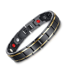 316L Stainless Steel Elegant Magnetic Therapy Bracelet Pain Relief Arthritis and Carpal Tunnel for Men Women vnox magnetic therapy bracelet men jewelry pain relief for arthritis stainless steel health energy free gift box