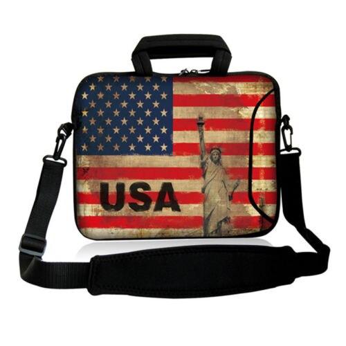 USA Flag 11.6 /12.5/13.3/14/15.6/ 17.3 Notebook Computer Laptop Sleeve shoulder Bag for Men Women Ultrabook Cover 11 12 13 15 17