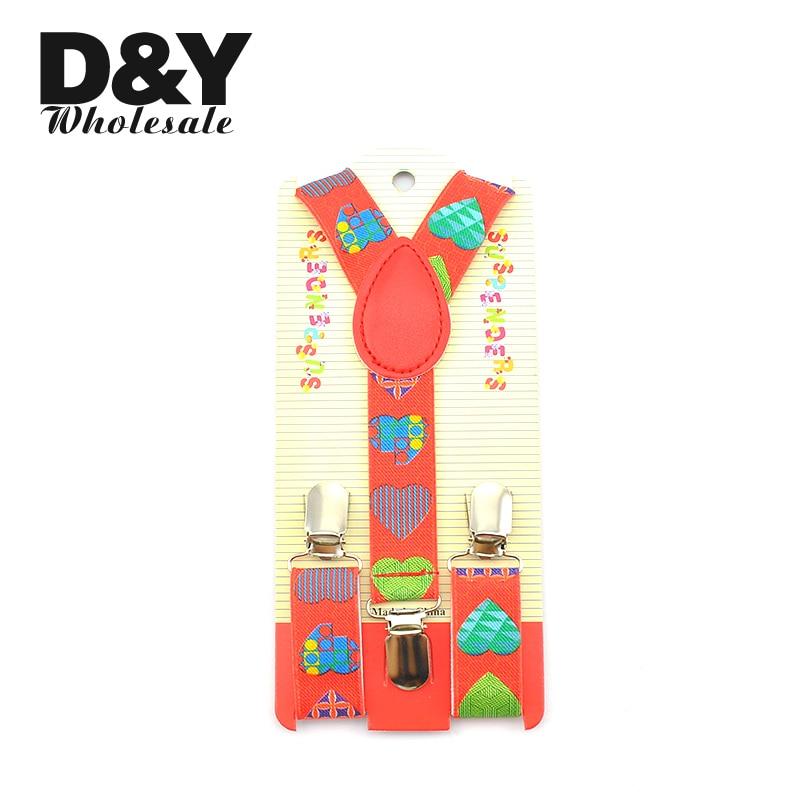 35 Designs Children Boy Girl Clip-on Braces Galaxy Cartoon Striped Heart Music Suspender Y-back Adjustable Elastic Suspenders