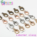 72pcs/lot Lobster Clasps 12mm Bronze/Gold/Silver Lobster Clasps Hooks for Necklace Jewelry Findings DIY 2016 new Hot Sale Copper