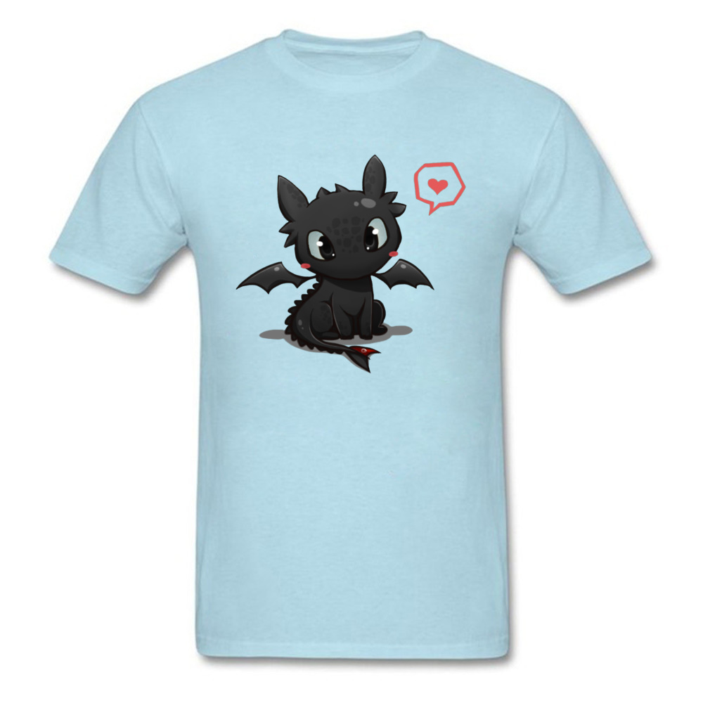 Printed Pure Cotton Cool T Shirt 2018 Fashion Short Sleeve Men Top T-shirts Simple Style NEW YEAR DAY T Shirt O-Neck How to train your Dragon 14844 light