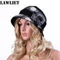 A259 New Womens Ladies Winter Wool Cotton Bucket Fur Trimmed Beanie Ski Cap Hat